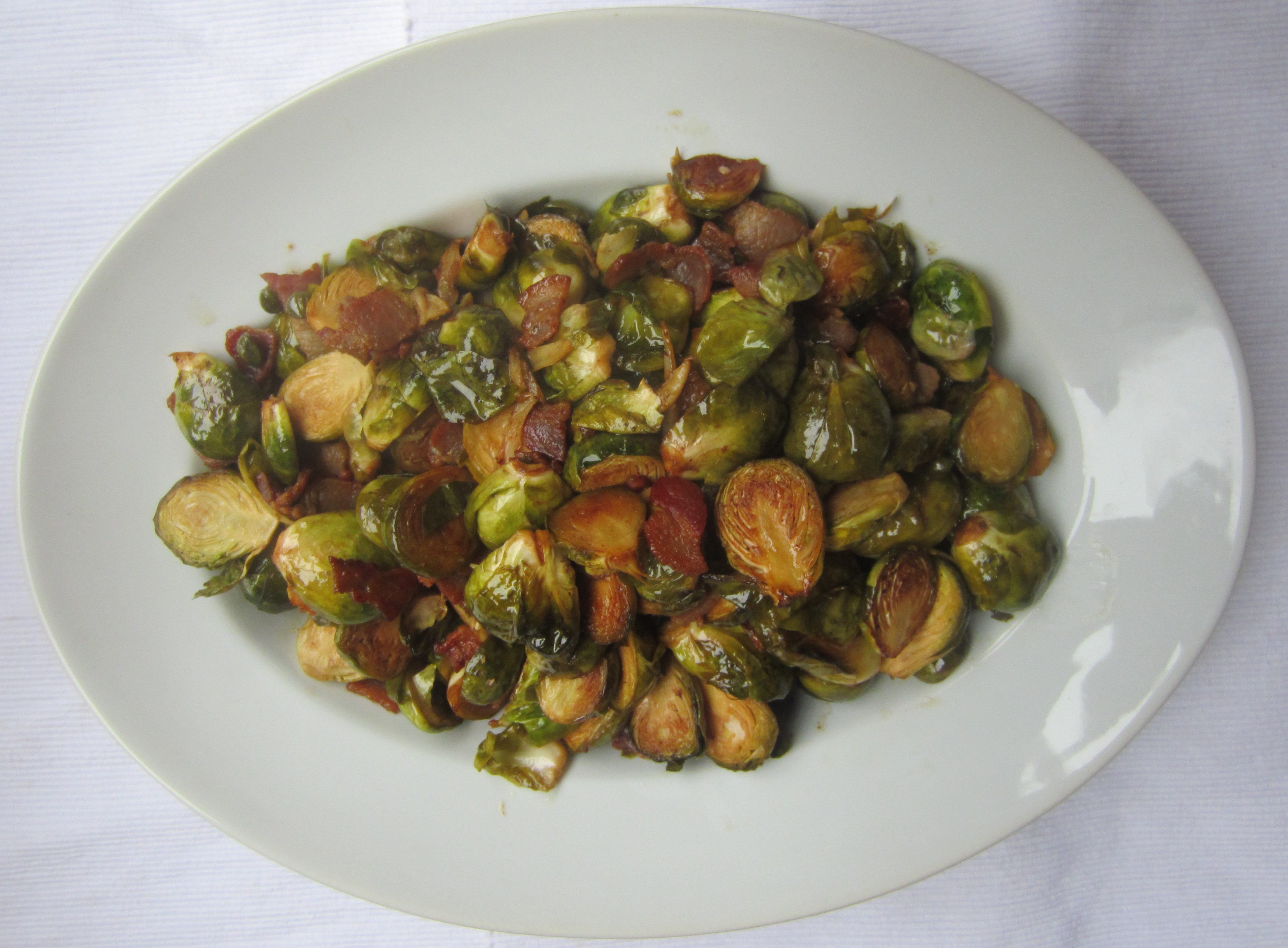 Caramelized Brussels Sprouts with Bacon