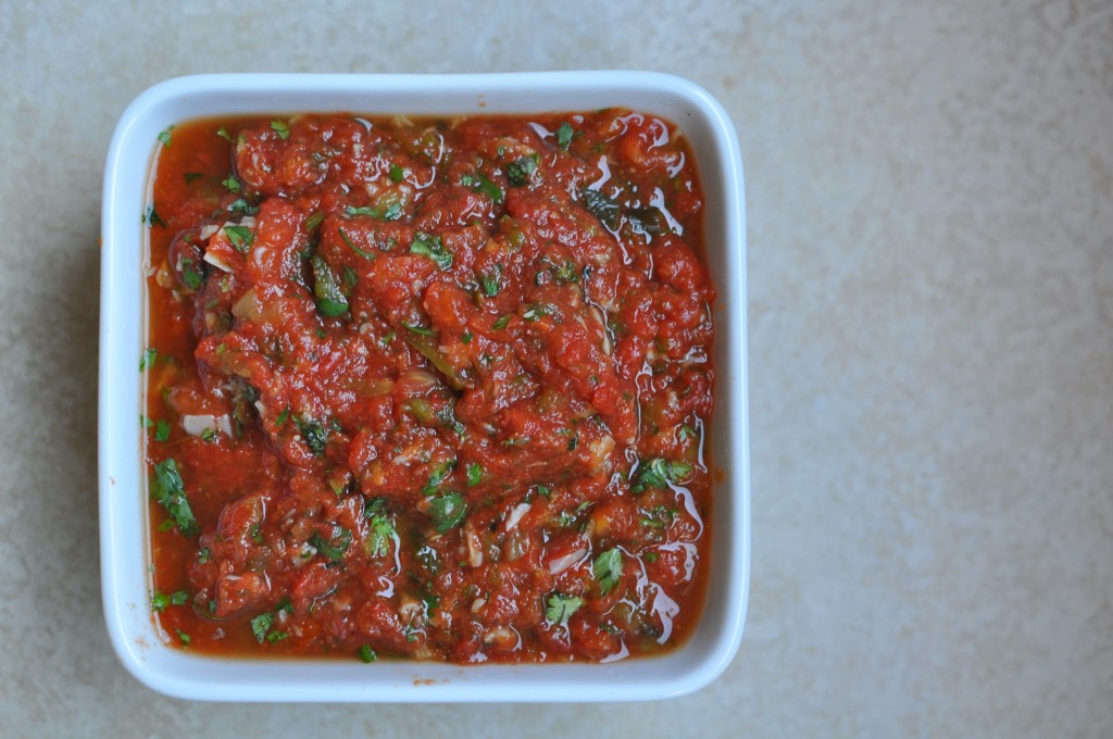Homemade Salsa from Peaches & Cake