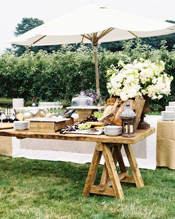 Beautiful Buffets - rustic cocktail table