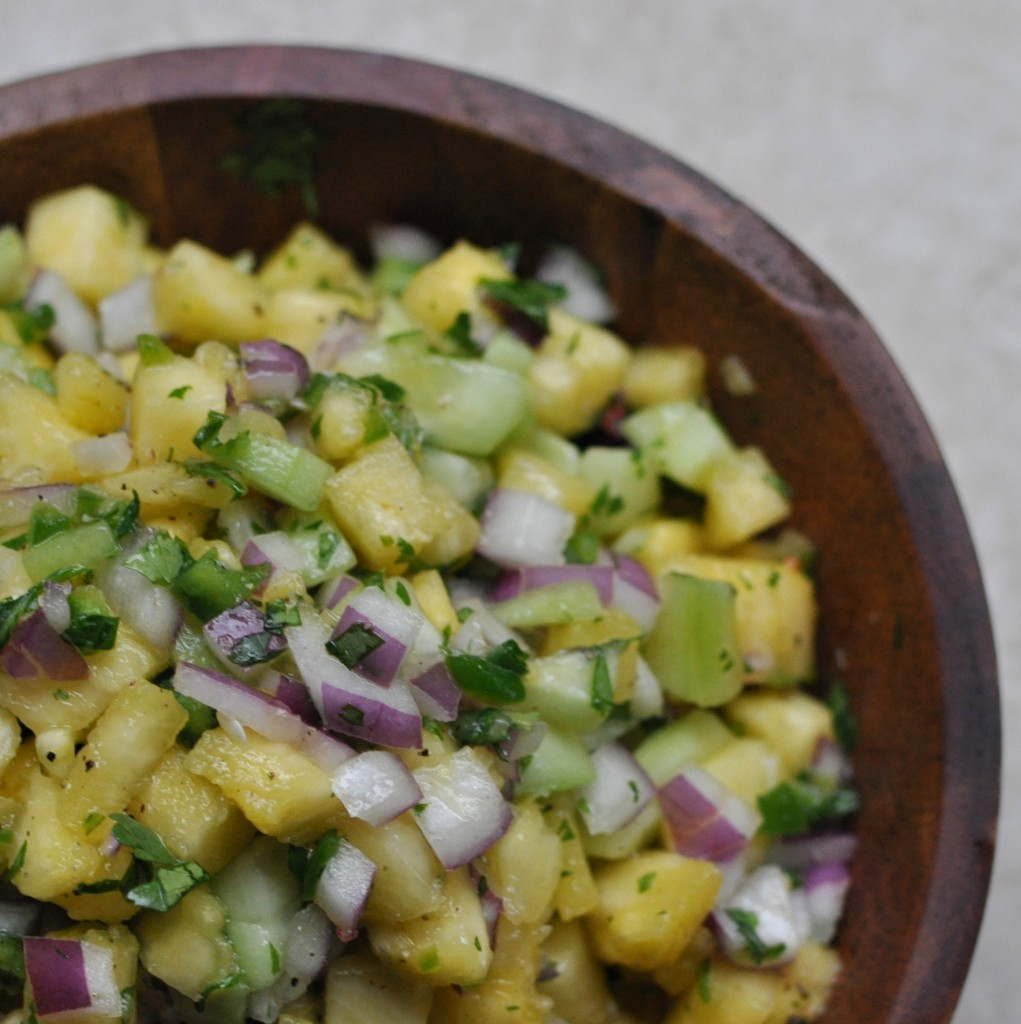 Spicy Pineapple Salsa from #food4humans by Michelle Tam