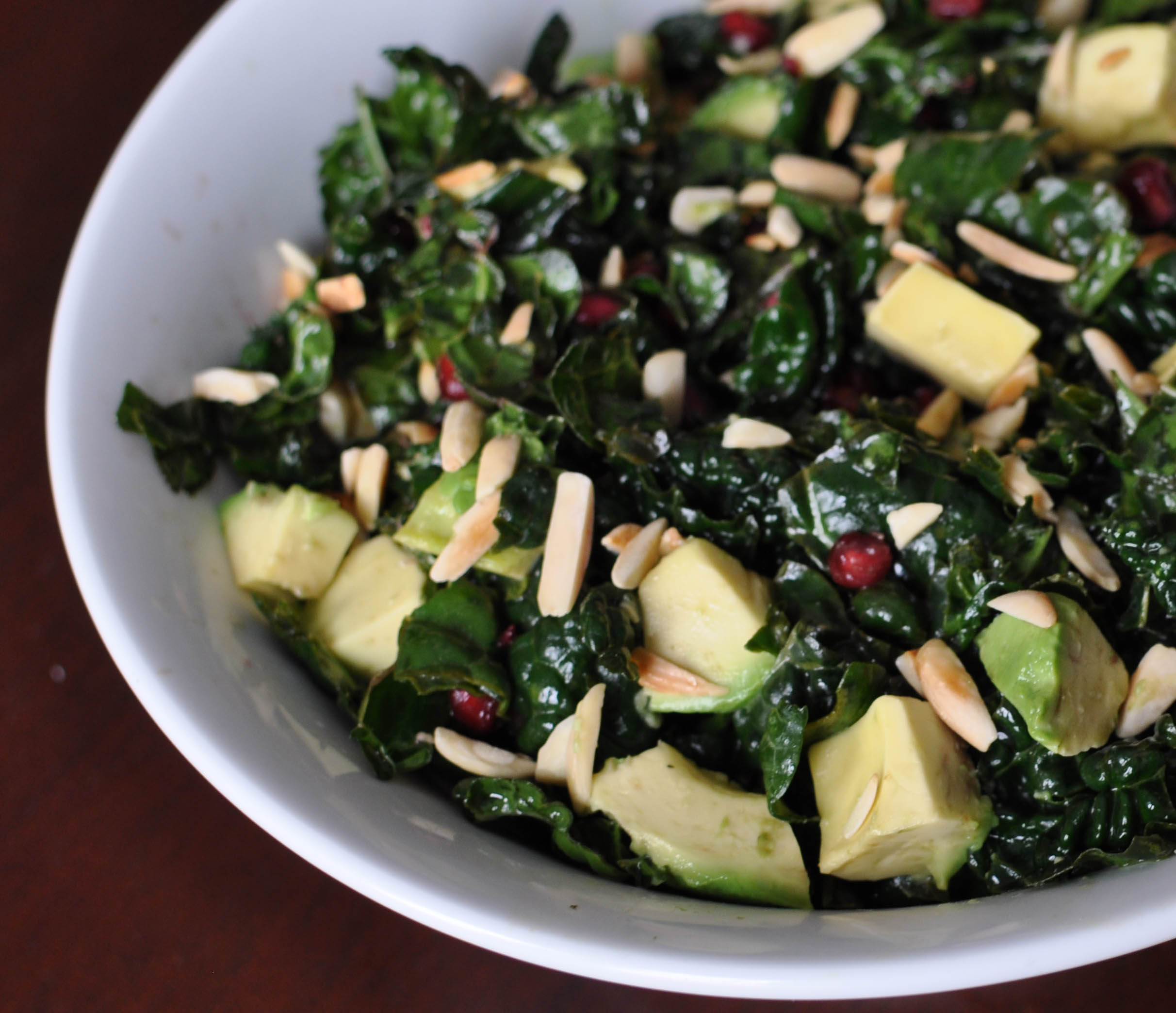 Kale, Pomegranate, and Avocado Salad