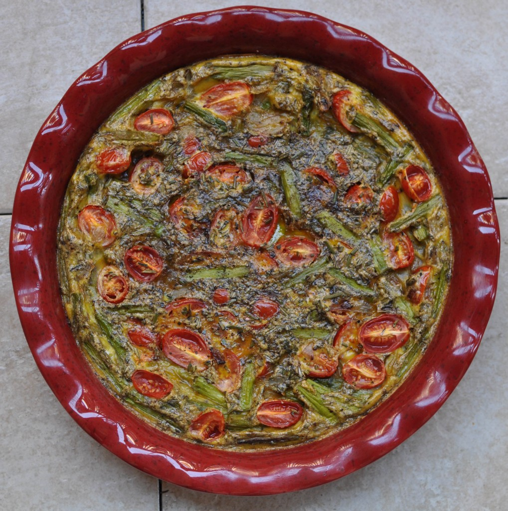 Asparagus and Grape Tomato Frittata