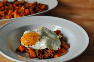 Sweet Potato and Sausage Hash with Fried Egg 2