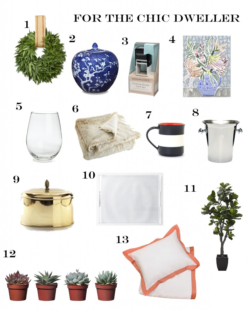 Holiday Gift Guide for the Chic Dweller