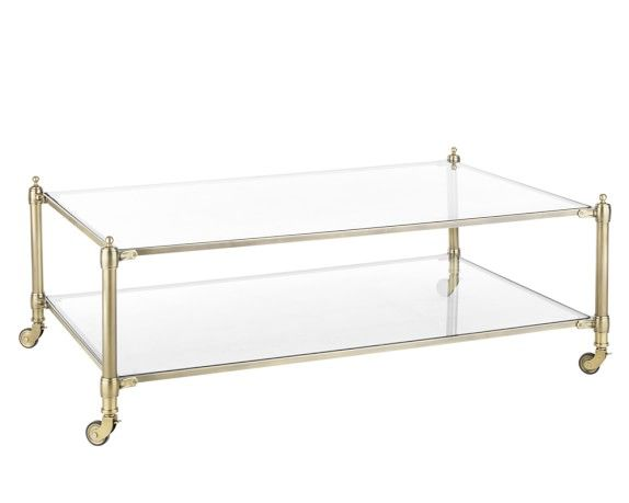 Williams Sonoma Stevenson Coffee Table Brass ...