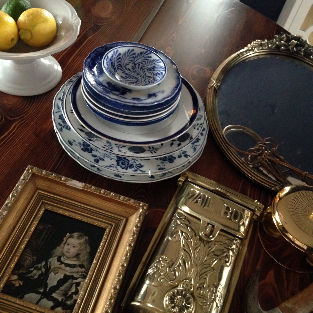 DIY Blue and White Plate Gallery Wall