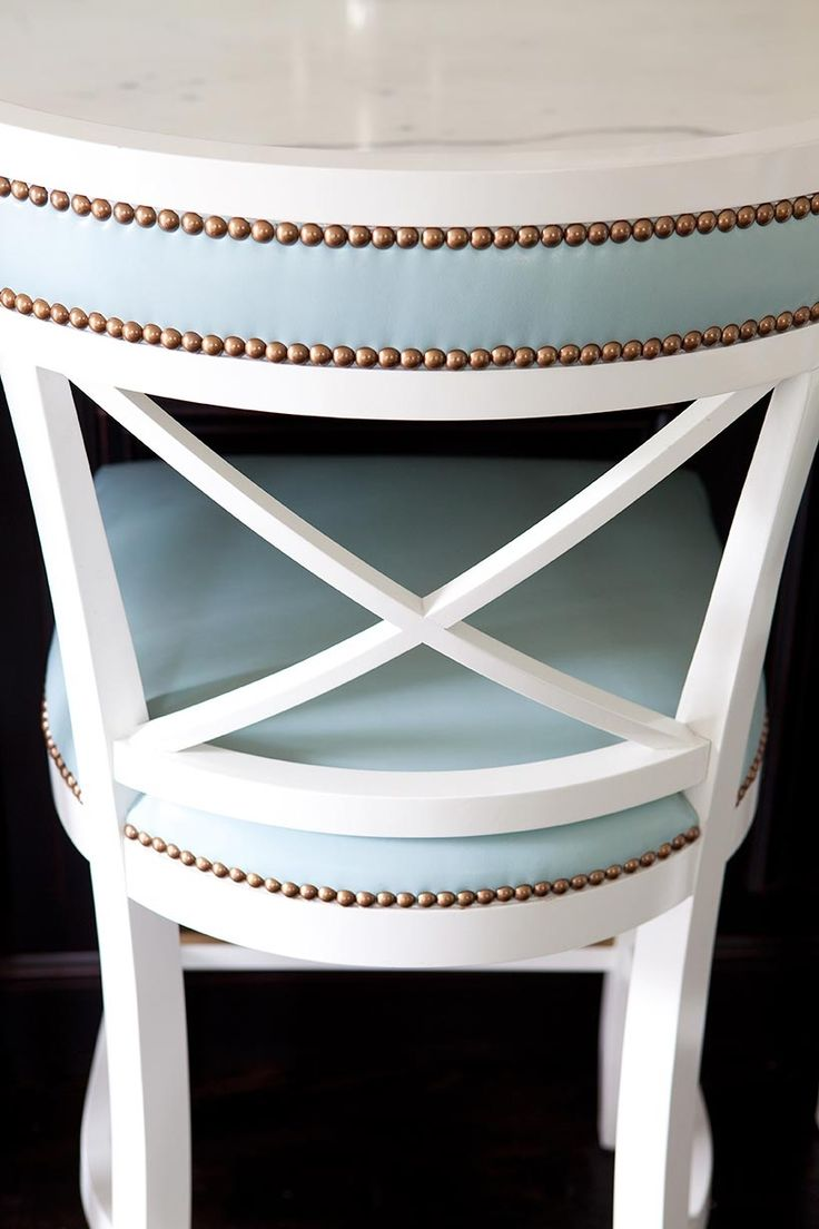 Colored Leather Chairs And Barstools Megan Opel Interiors