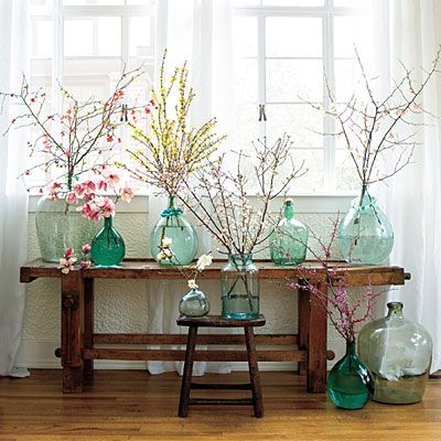 sea blue glass jugs the inspired room