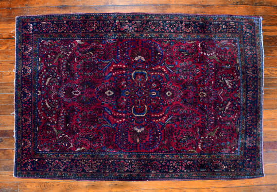 persian rug purple