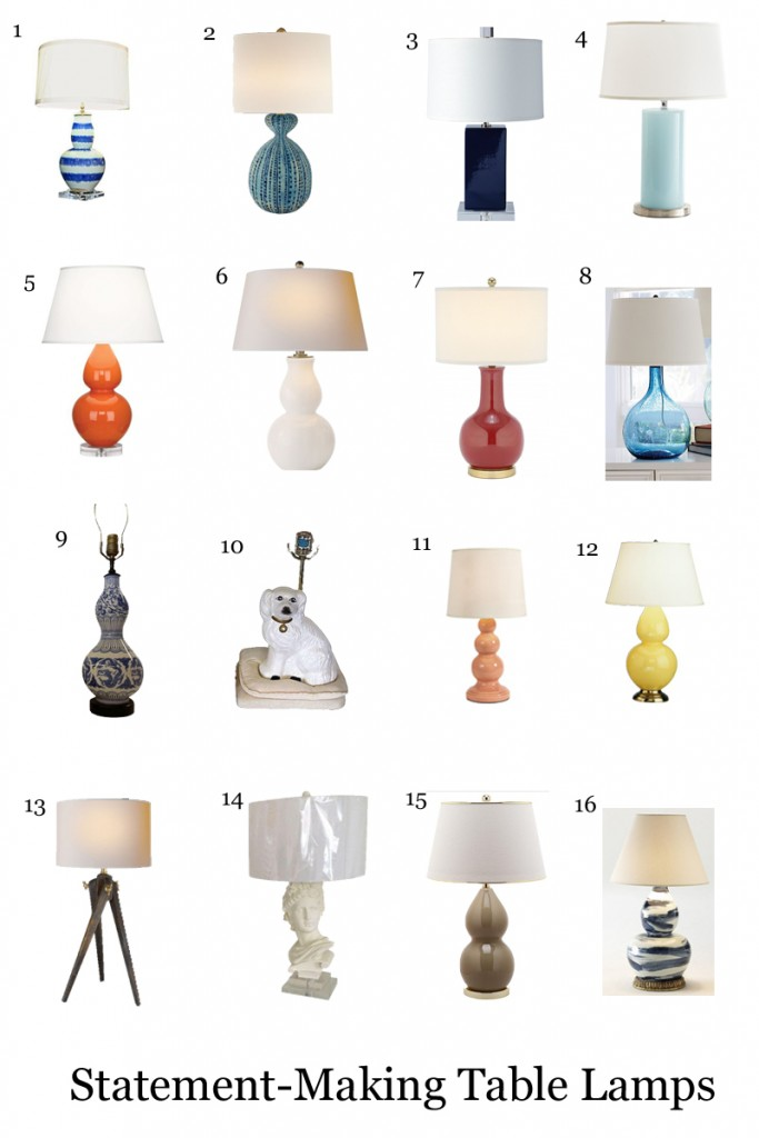 Statement-Making Table Lamps - Peaches and Cake Blog