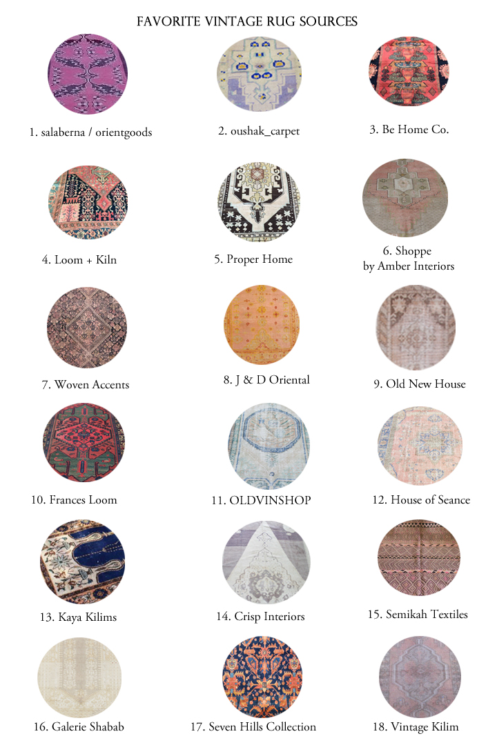 My Favorite Sources for Vintage Rugs