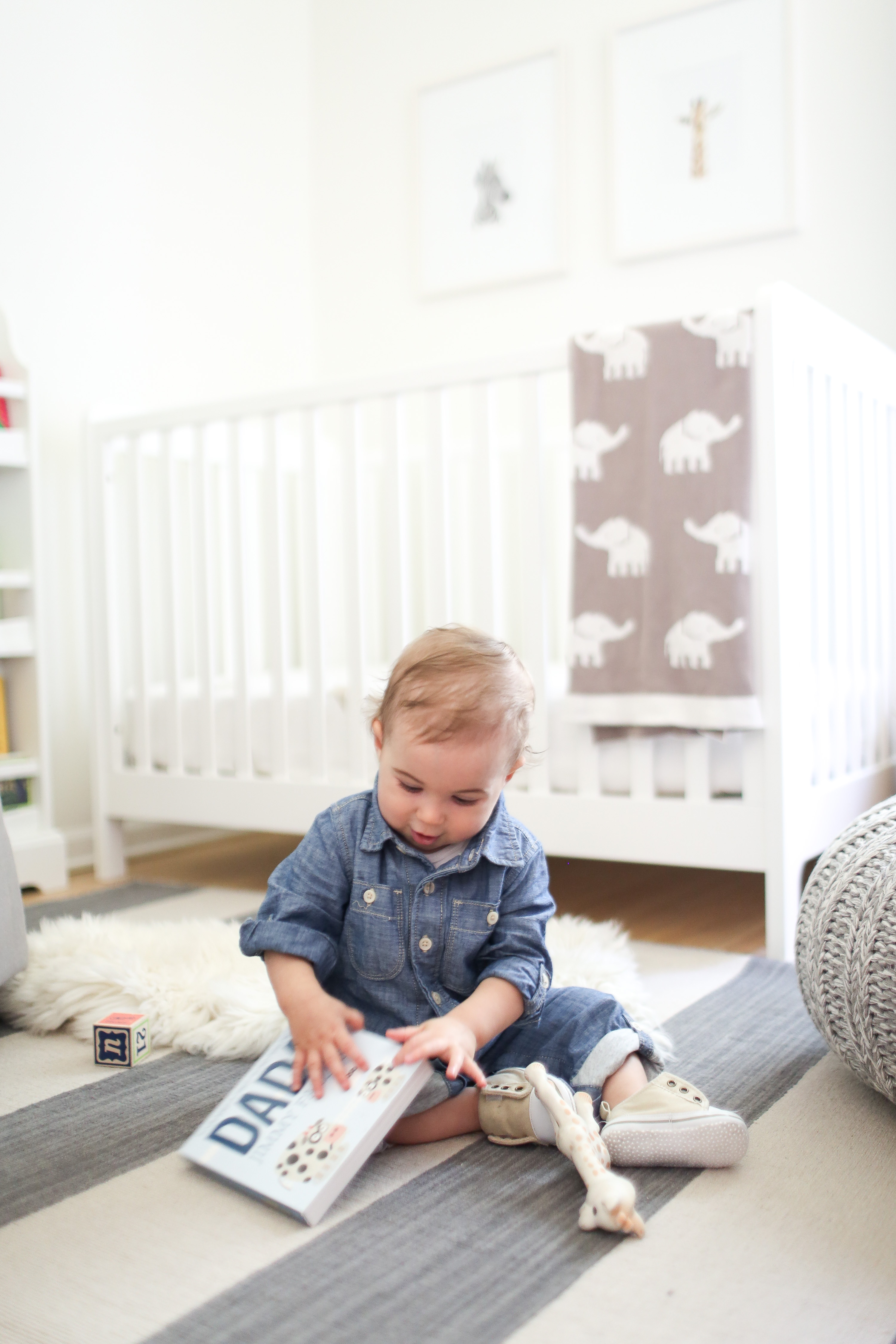 Oliver's Nursery on Style Me Pretty Living + A Rug Update