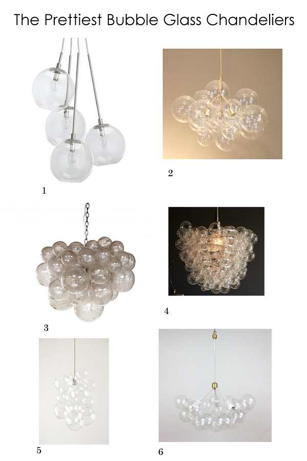 Currently Loving: Bubble Glass Chandeliers