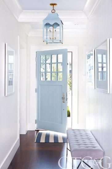 White Walls With Blue Ceilings Megan Opel Interiors